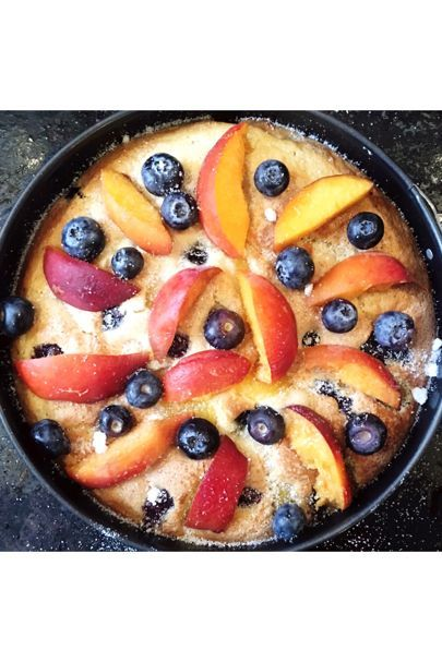 Recipe: Peach And Blueberry Yoghurt Cake