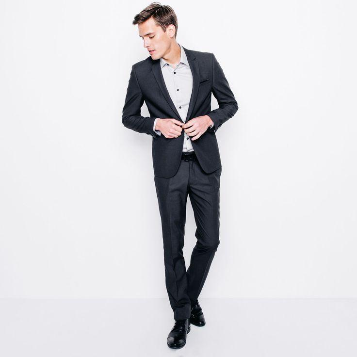Veste de costume slim Gris Anthracite Homme - Tenue chic pour les fêtes - Homme - Jules.com