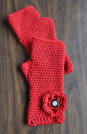 Merino 5 - Crocheted Fingerless Gloves - Crystal Palace Yarns