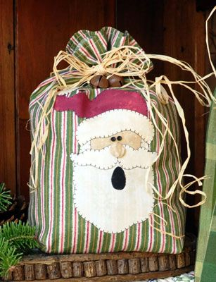 Free Downloads: Christmas Crafts, Gifts Bags, Gifts Ideas, Santa Applique, Appliques Patterns, Fabrics Bags, Free Patterns, Gifts Items, Christmas Gifts