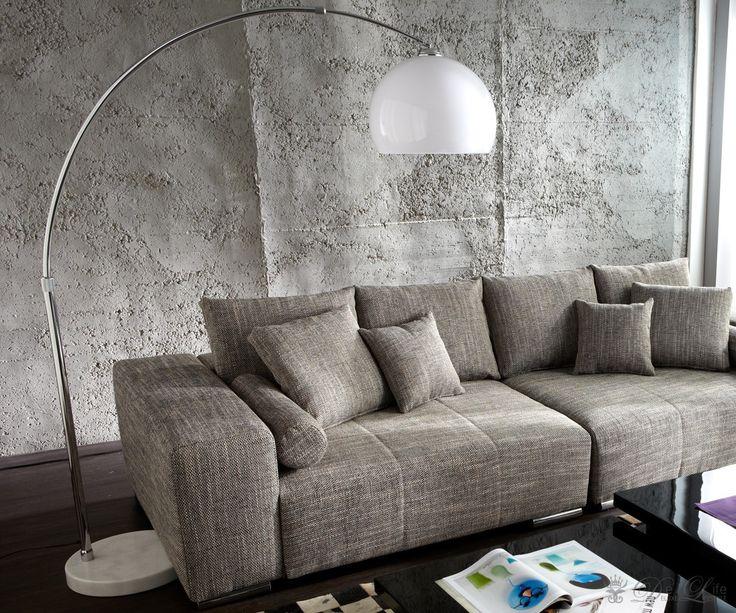 Bogenlampe Lounge Big Deal Weiss höhenverstellbar