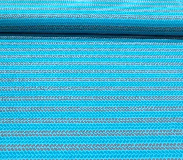 Kinder tricot druppels blauw - Megastoffen.nl