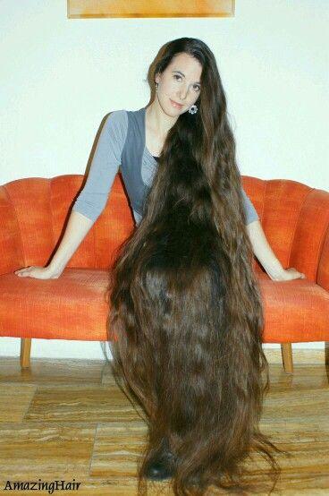 Long brown hair fetish