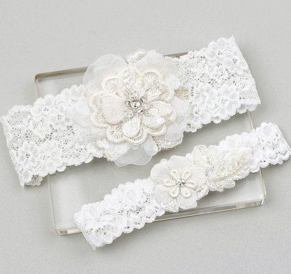 Lace Garter Set Wedding Bridal By MirinoBridal