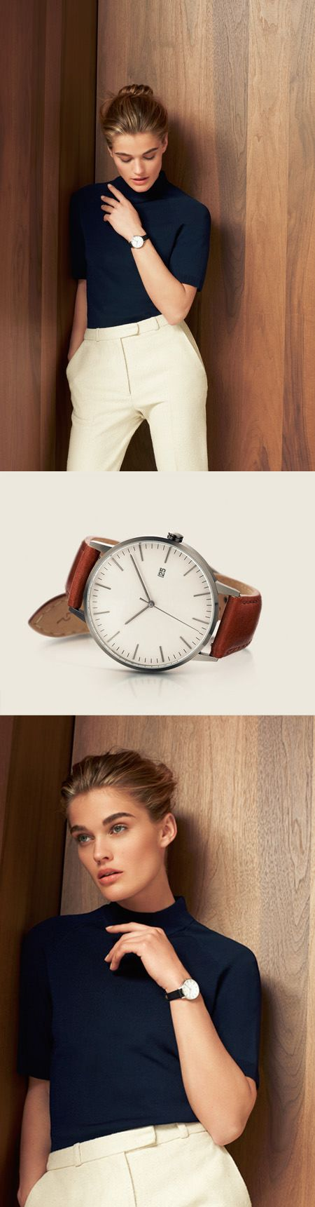 Quality and style combined, the Linjer watch emits an air of minimalist sophistication. The gunmetal casing, tan strap of the finest leather, and Swiss movement are skillfully combined in a beautiful Scandinavian design. More on Linjer.co