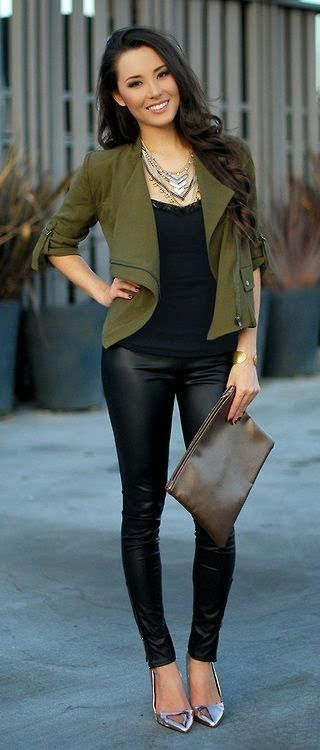 Woman's Fall Fashion Trends 2014 Use Kwik Sew 3764 and a light fall wool for a moto jacket like this one. #fashionista