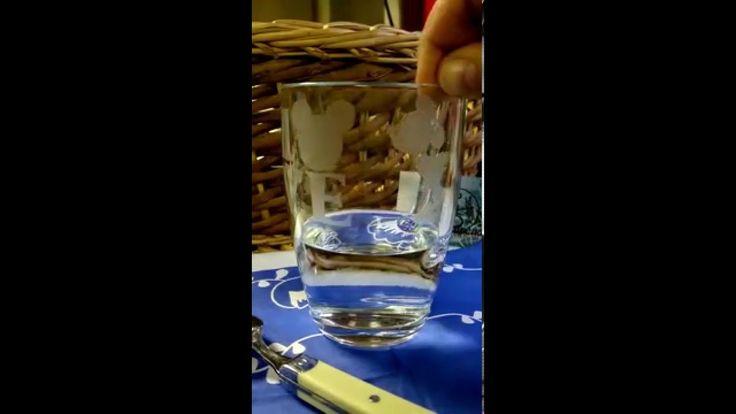 Tazza in vetro con INCISIONE