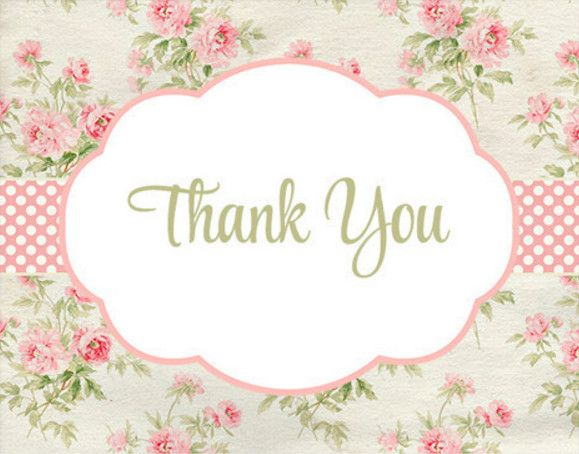 shabby chic baby shower thank you cards