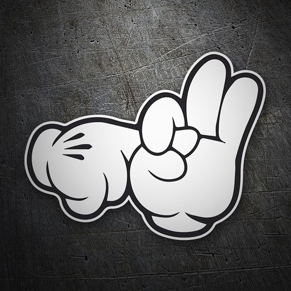 Pegatinas: Mickey Hands #coche #pegatina #sticker
