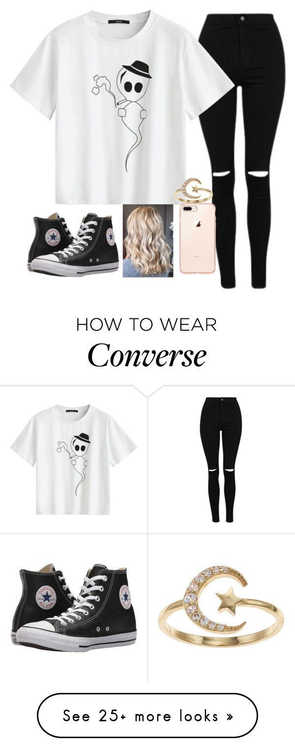 """""""Untitled #2259"""" by tokyoghoul1 on Polyvore featuring Converse and LC Lauren Conrad"""