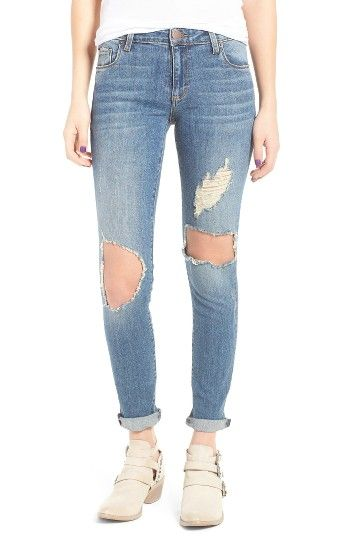 Free shipping and returns on STS Blue Taylor Ripped Boyfriend Jeans (Fern Canyon) at Nordstrom.com. Shredded patches and blown-out knees add trend-right embellishment to a pair of slim-fit boyfriend jeans that are casually cuffed at the hem. Size up for a slouchier boyfriend fit.