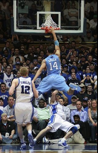 UNC beating Duke!!