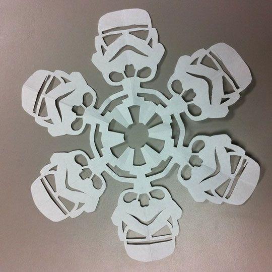 stormflakes?  snowstorm?: Darth Vader, Storms Troopers, Stars War, Star Wars, Paper Snowflakes, War Snowflakes, Christmas, Diy Stars, Starwars
