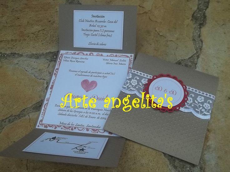 invitaciones rusticas para matrimonio