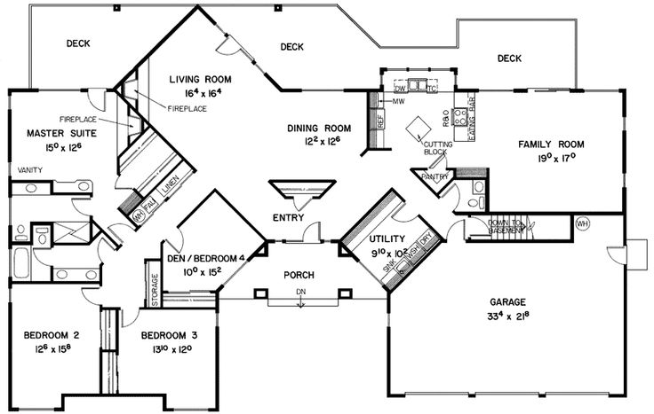 113 best images about home plans on pinterest Modern ranch floor plans