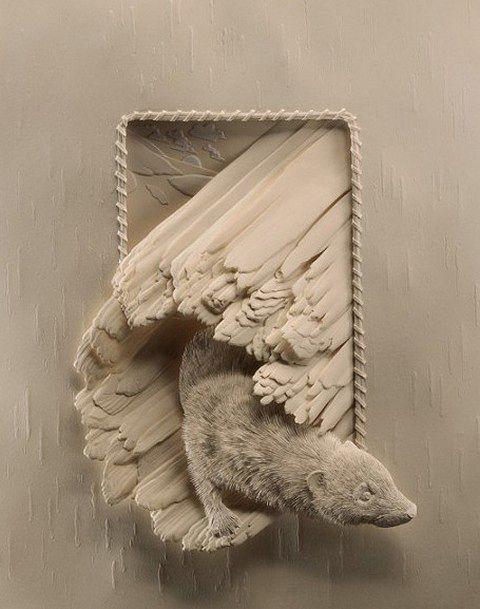 Beautiful Paper Sculptures By: Calvin Nicholls