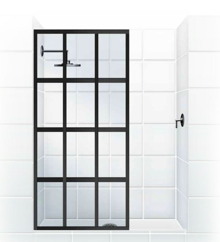 GRIDSCAPE™ Series [Patent Pending] Fixed Panel Shower Partition by Coastal Shower Doors. www.coastalind.com.