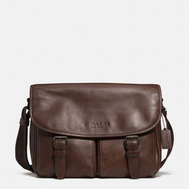 ≪COACH≫|SPORT MESSENGER IN LEATHER