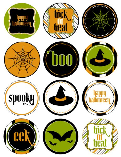 Free Printable Halloween Labels | They are listed as Halloween party printables,