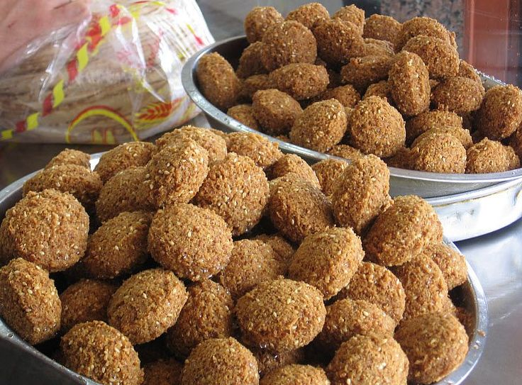 Falafel is a very delicious Middle-Eastern gourmet that has become popular in the West over the past several years. It's made from a deep fried paste of chick peas, fava beans, and a mix of onions and different spices.  Our featured Falafel recipe is good for a serving of 10 and the left