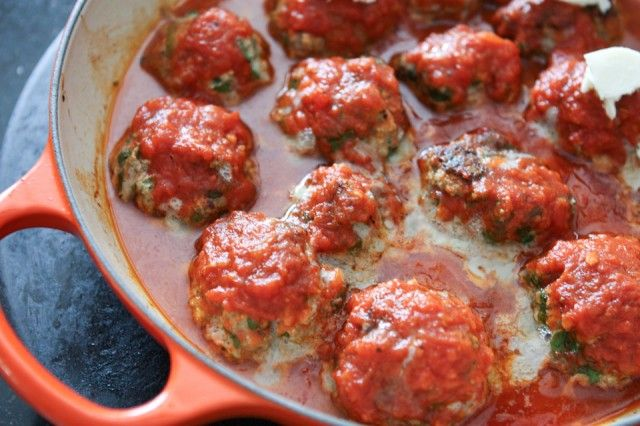 Baked Spinach and Ricotta Meatballs & Le Creuset Giveaway
