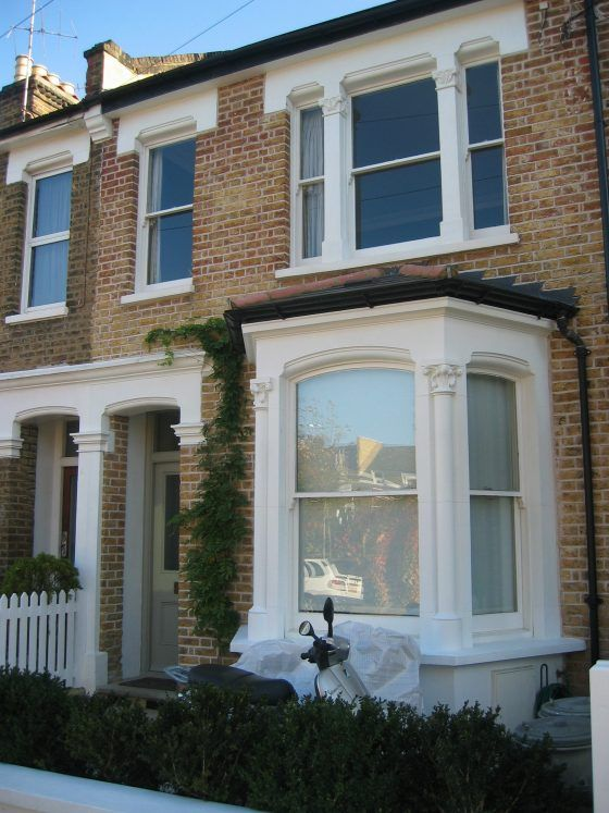 This house was in a pitiful state when we found it. The bay window had gone, replaced with a picture window. The front garden had been converted into a parking space (which was not large enough to fit a conventional car). All windows had been replaced with poor quality aluminium. Brick walls had been rendered …