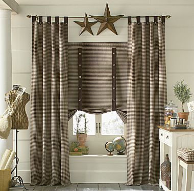 79 best Primitive Curtains!!! images on Pinterest Primitive - country curtains for living room