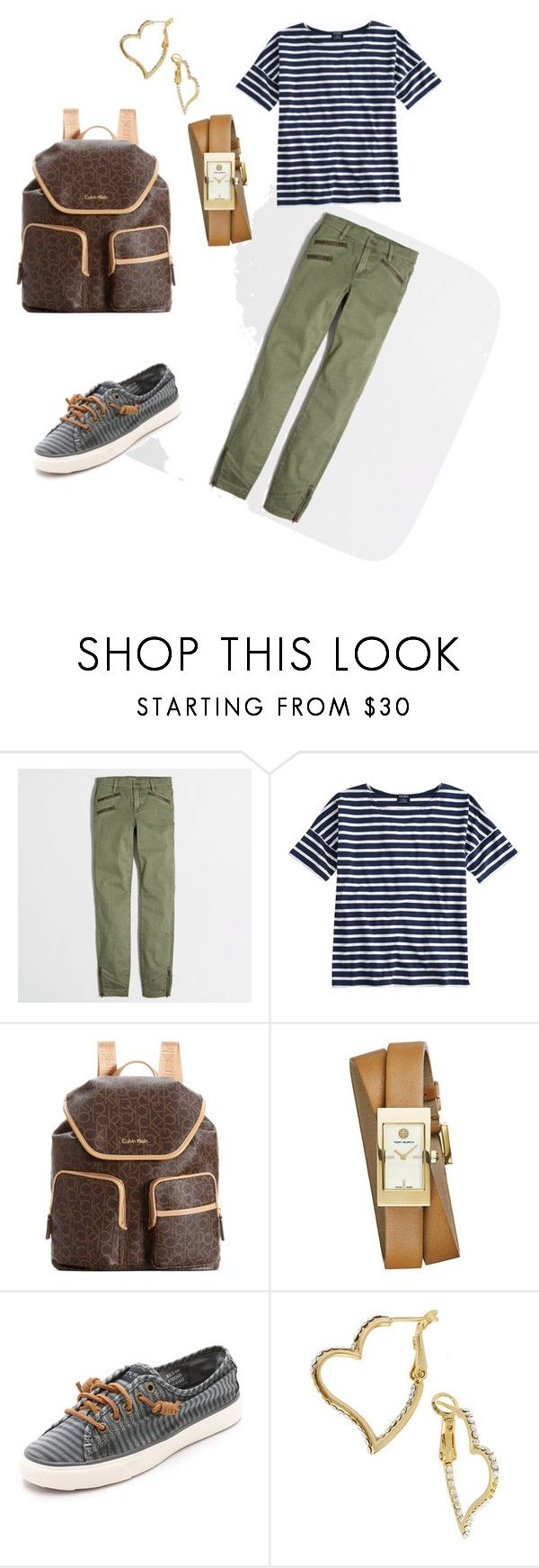 """""""back to school"""" by laydasaavedra ❤ liked on Polyvore featuring J.Crew, Saint James, Calvin Klein, Tory Burch, Sperry and Betsey Johnson"""