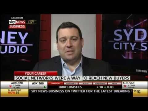 Sky Business interviews Tom Skotidas on Social Selling and his agency's growth in this field.