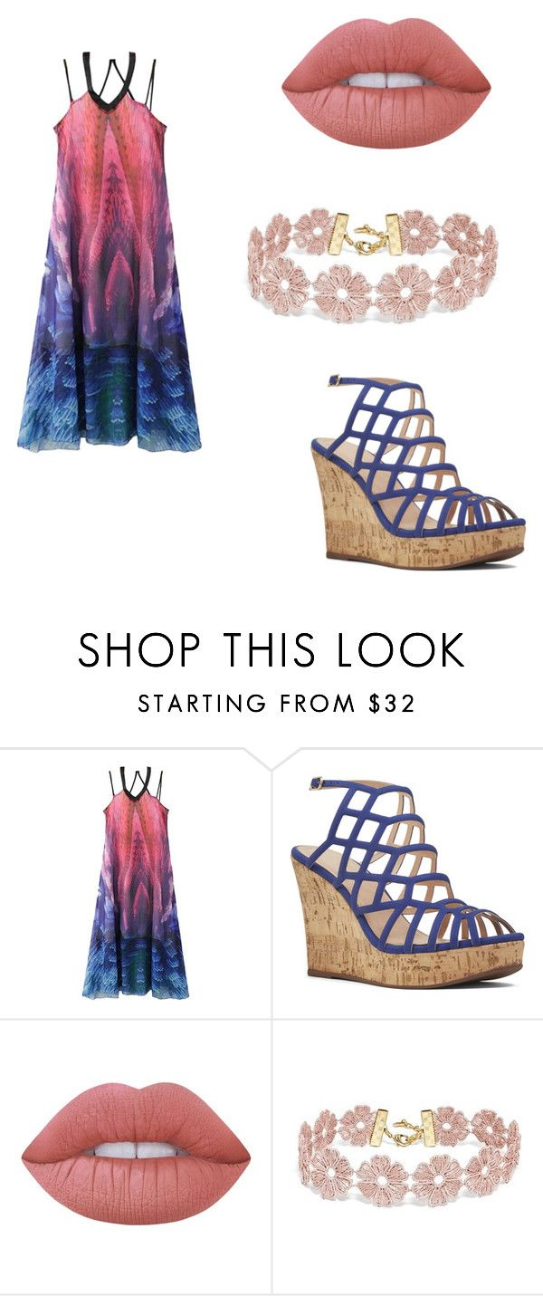 """""""Sem título #117"""" by mariajuliaebeatriz on Polyvore featuring WithChic, Nine West, Lime Crime e BaubleBar"""