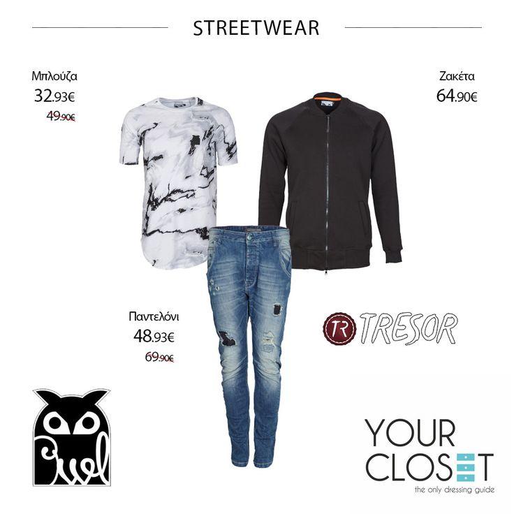 Όλες οι αγαπημένες σου επώνυμες μάρκες εδώ! #owl #clothes #jeans #tresor #tshirt #college #jackets #fashionblogger #fashionista #fashionstyle #fashionaddict #fashionlover #follow #fashion #style #fashionblog #lookoftheday #new #newcollection #menswear #men