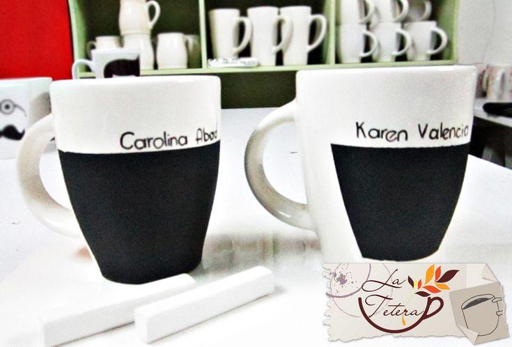 Mugs pizarra personalizados!!  www.lateteramugs.com