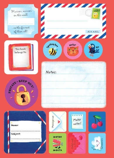 Usborne See Inside: Back to school sticky labels