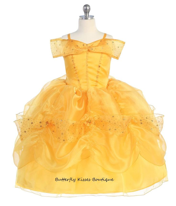 A princess at heart!    Prepare your Little Beauty for her debut with this Princess costume! This storybook costume includes a pretty gold dress with attached petticoat, and matching gloves (not pictured). 3-piece set.     Available toddler sizes:2t, 3t, 4t, 6 and 8    Hand wash.