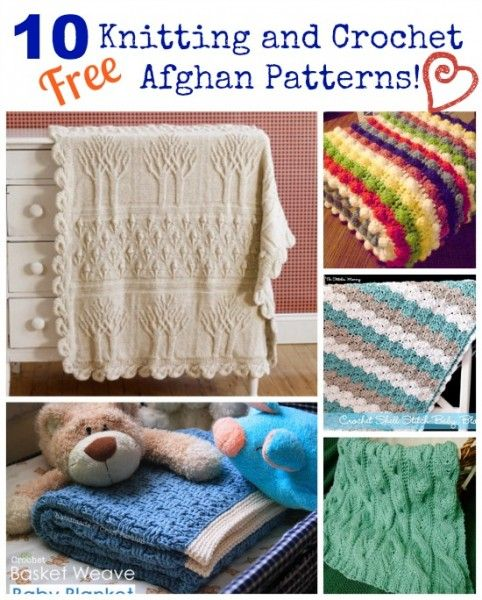 10 free knitting and crochet afghan patterns