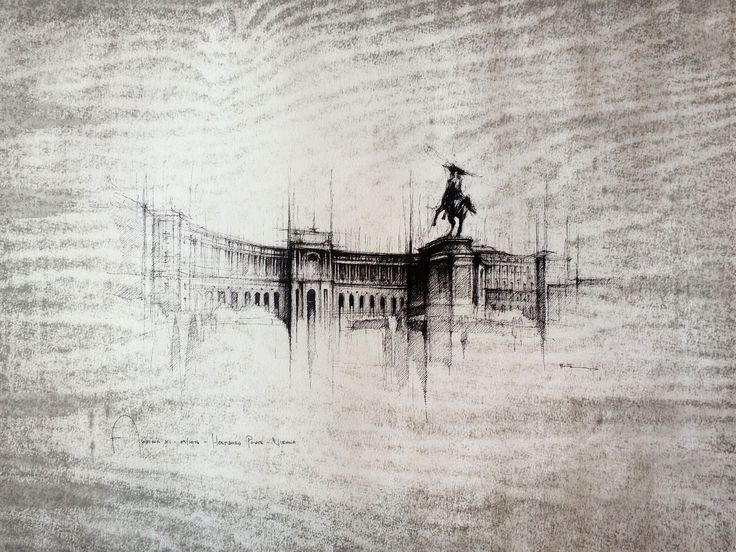 VIENNA HOFBURG  Drawing on paper, 40cmx30cm, ink  © Pavel Filgas 2016