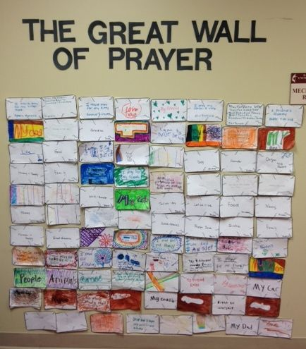 Recently our kids at church learned the story of Nehemiah and how he re-built the wall of Jerusalem.  I wanted them to do an activity in which they could build their own wall and also connect it wi...