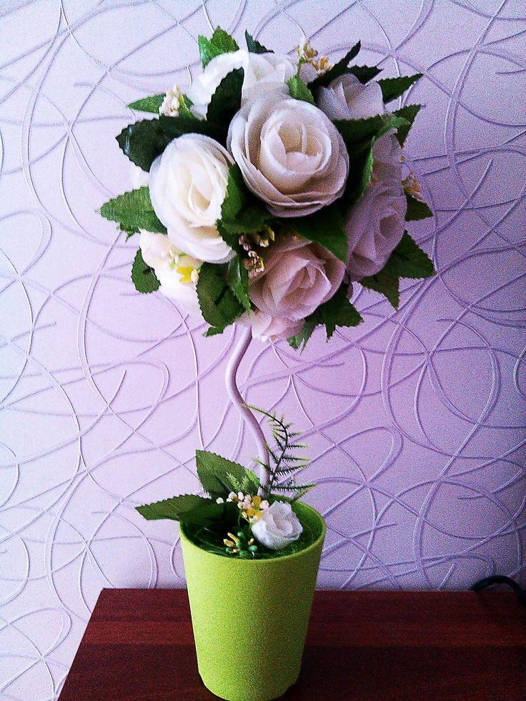 """Топиарий """"Белые розы"""""""