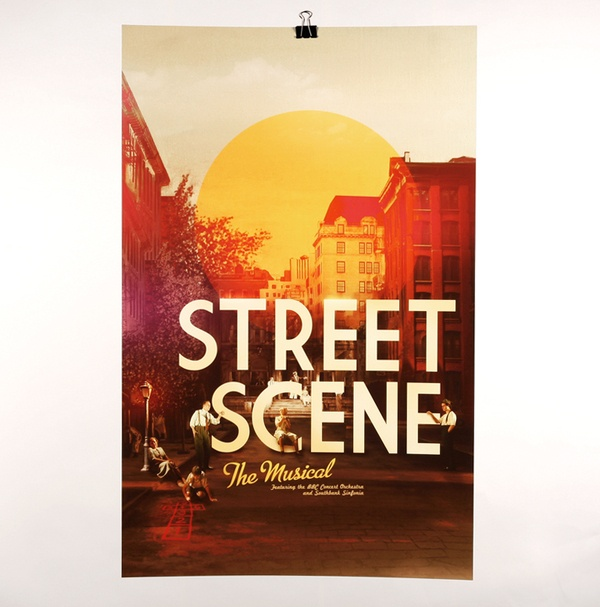 Theatre Posters by Adrian Guerin, via Behance