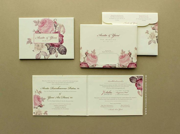 Vinas invitation. Flower embossed. Flower printing. Gray and red. Blossom flower. Hardcover invitatiom.custom invitation. Sydney wedding. Indonesian wedding. Any question pls visit www.vinasinvitation.com. courtesy of Arsito and Yani