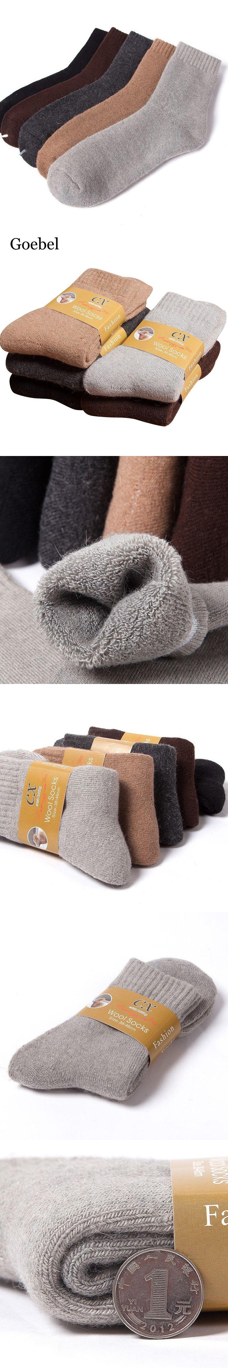 Goebel Man's Winter Socks Comfortable Solid Color Men Thicker Socks Warm Comfortable Man Wool Socks 3pairs/lot
