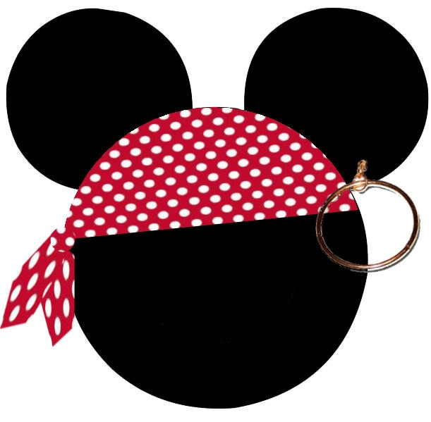 mickey head with pirate bandana for t shirt   the dis