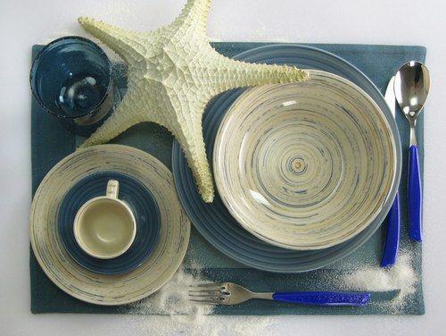 Posto tavola Dune in grés | Lasciati ispirare del rumore del mare per arredare la tua casa estiva  | Arredamento casa al mare #design #home