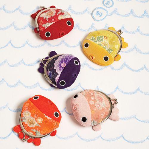 Japanese kimono fabric little purses