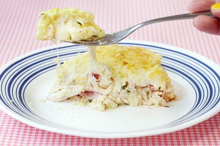 Receita da Torta purê de batata com 3 recheios. https://www.facebook.com/saldeflor/