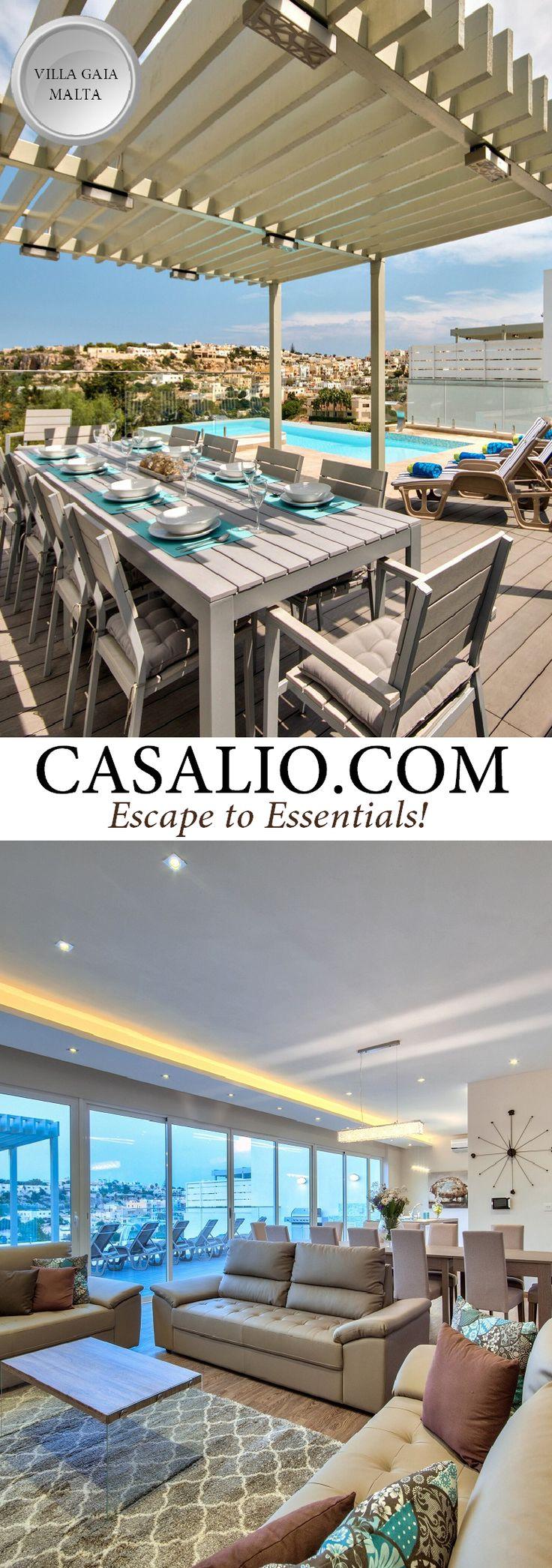 Luxury Villa Rental VILLA GAIA in Mallieha, Malta. exclusive location of Mellieha, this four-bedroom, brand new, contemporary villa #villarental #casalio #casaliotravel #luxuryvilla #luxusvillen #luxury #villa #ferienvilla