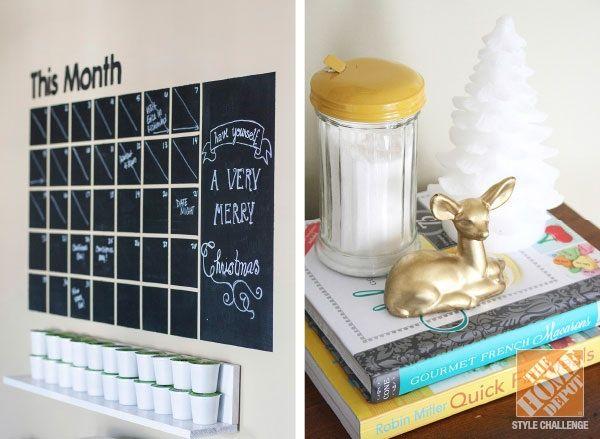 Chalkboard paint calendar