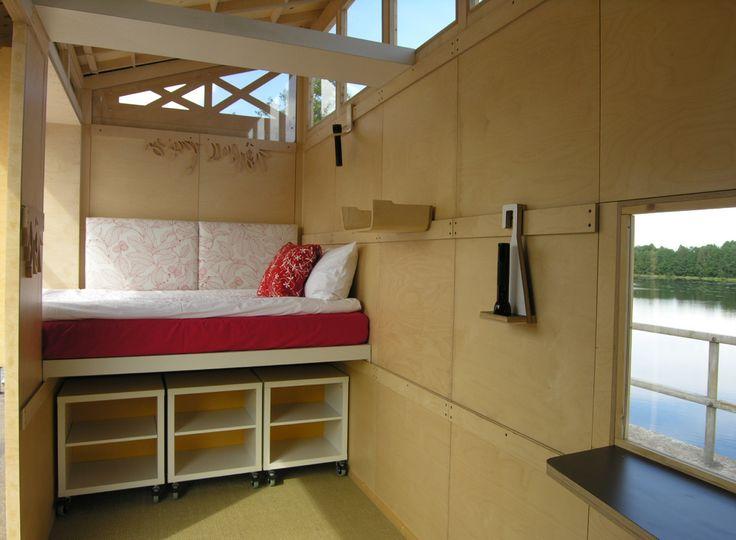 Even better use of  blocks as seating/storage/sofa (sorta)