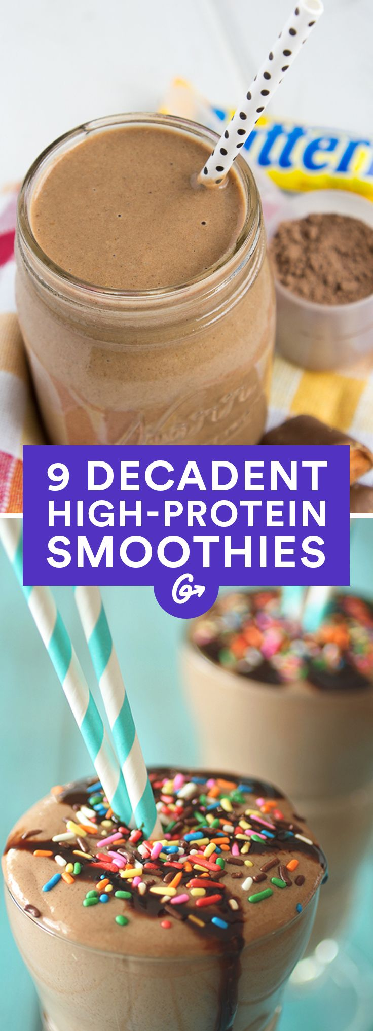 9 High-Protein Smoothies That Taste Like a Milkshake #smoothies #protein http://greatist.com/eat/milkshake-inspired-protein-shake-recipes