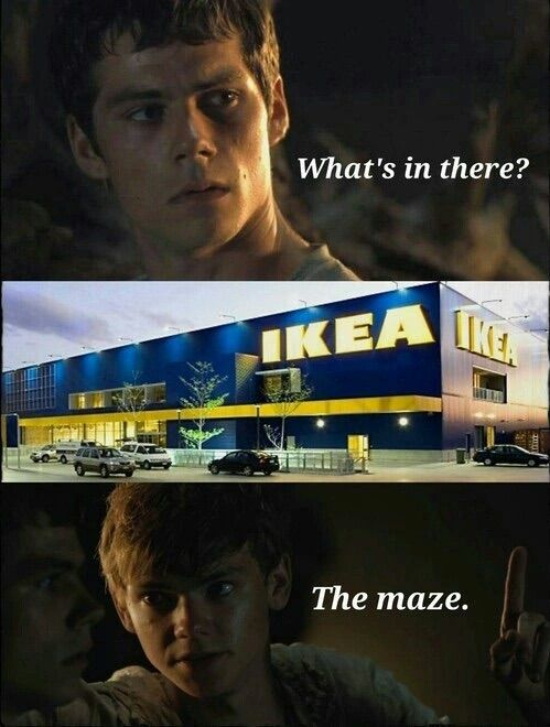 This is pre funny considering when I go to ikea I have no idea where anything is